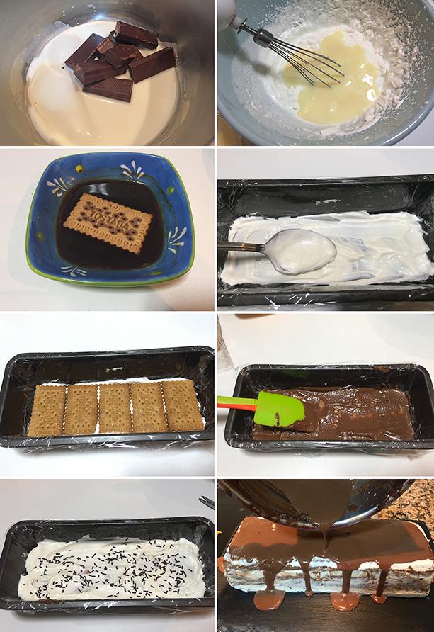 tarta helada galletas chocolate paso a paso
