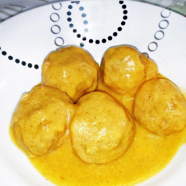 Receta de alb ndigas de pollo al curry divina cocina - Guarnicion para albondigas ...