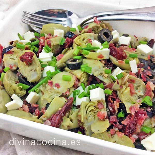 Receta de ensalada de alcachofas mediterr nea divina cocina for Como cocinar col lombarda