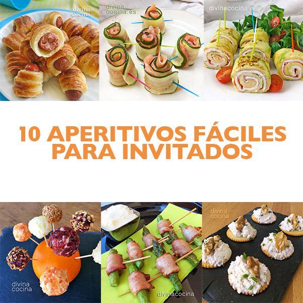 10 aperitivos f ciles para invitados divina cocina for Platos faciles para sorprender