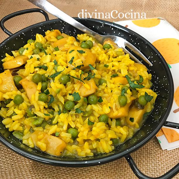 arroz amarillo con chocos sepia