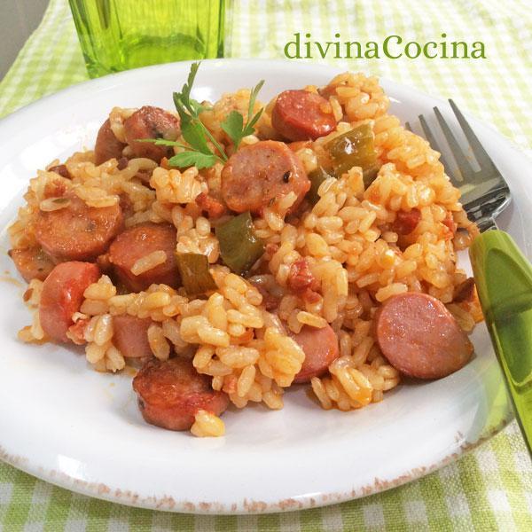 arroz-con-salchichas-plato1