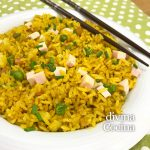 Arroz frito al curry