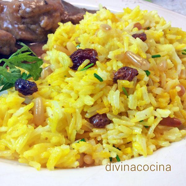 arroz-pilaf-con-pasas