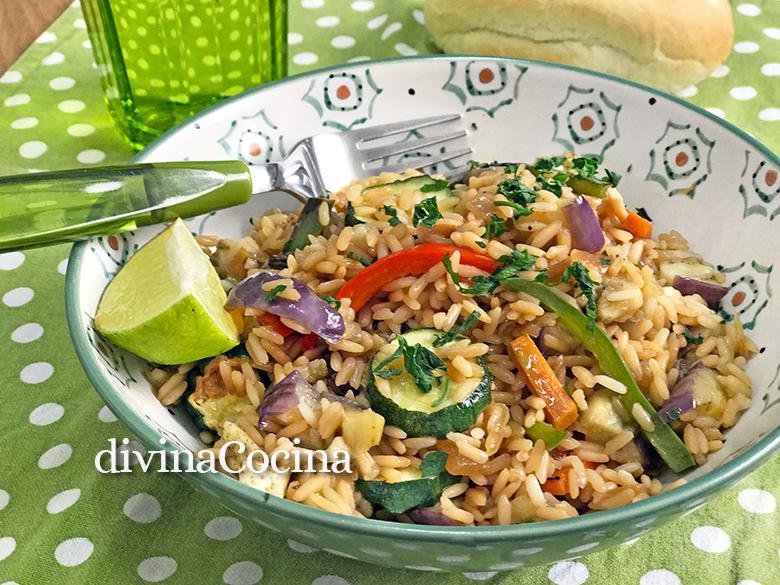 arroz salteado con verduras 1