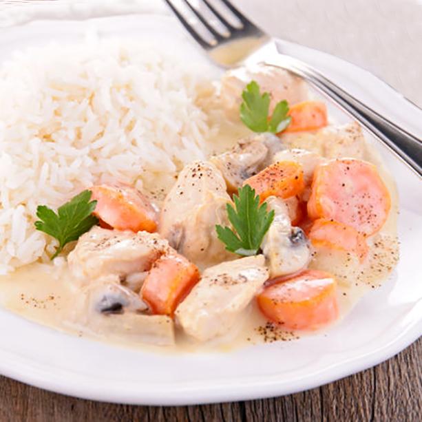 receta blanqueta de pollo