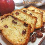 Cake de manzana y pasas