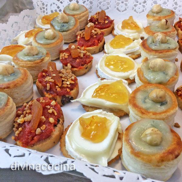 canap s variados de fiesta divina cocina On canapes fiesta