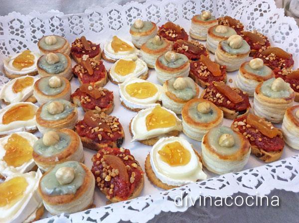 Canap s variados de fiesta divina cocina for Canapes sencillos y rapidos