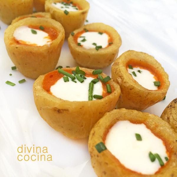 Canastillas de patata rellenas