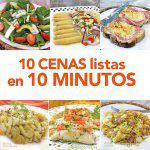 10 cenas listas en 10 minutos