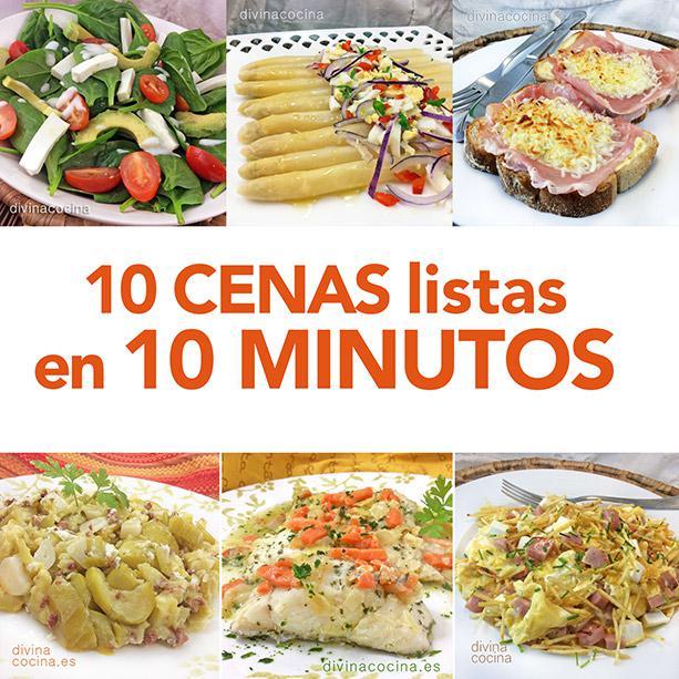10 cenas listas en 10 minutos divina cocina for Cocinar en 10 minutos