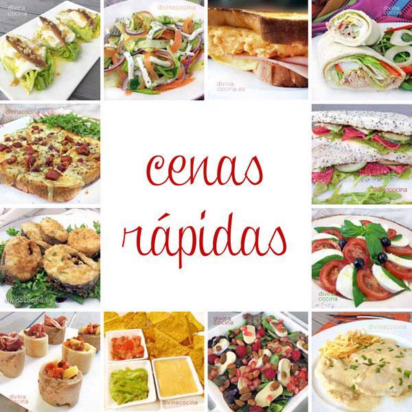 Cenas rapidas divina cocina for Tecnicas gastronomicas pdf