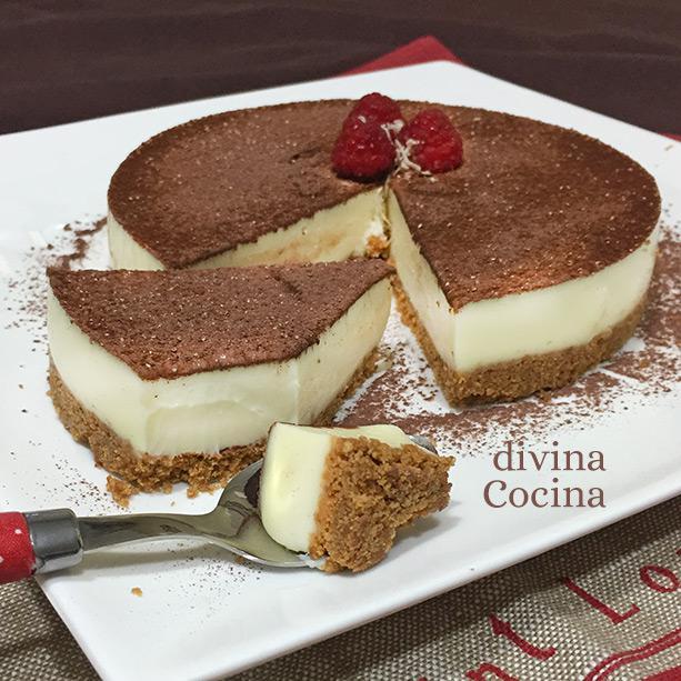 cheesecake chocolate blanco cortado