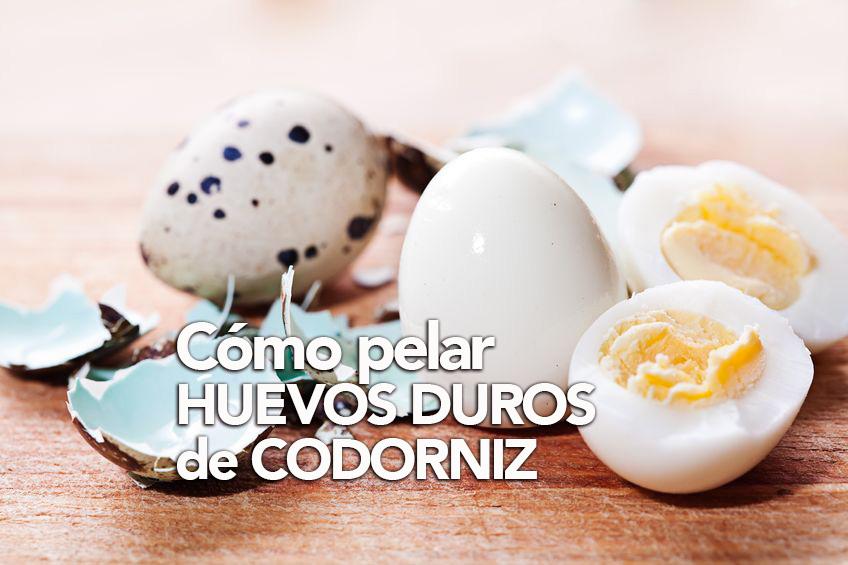 pelar huevos de codorniz