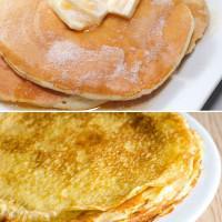 Crepes y tortitas, diferencias y recetas