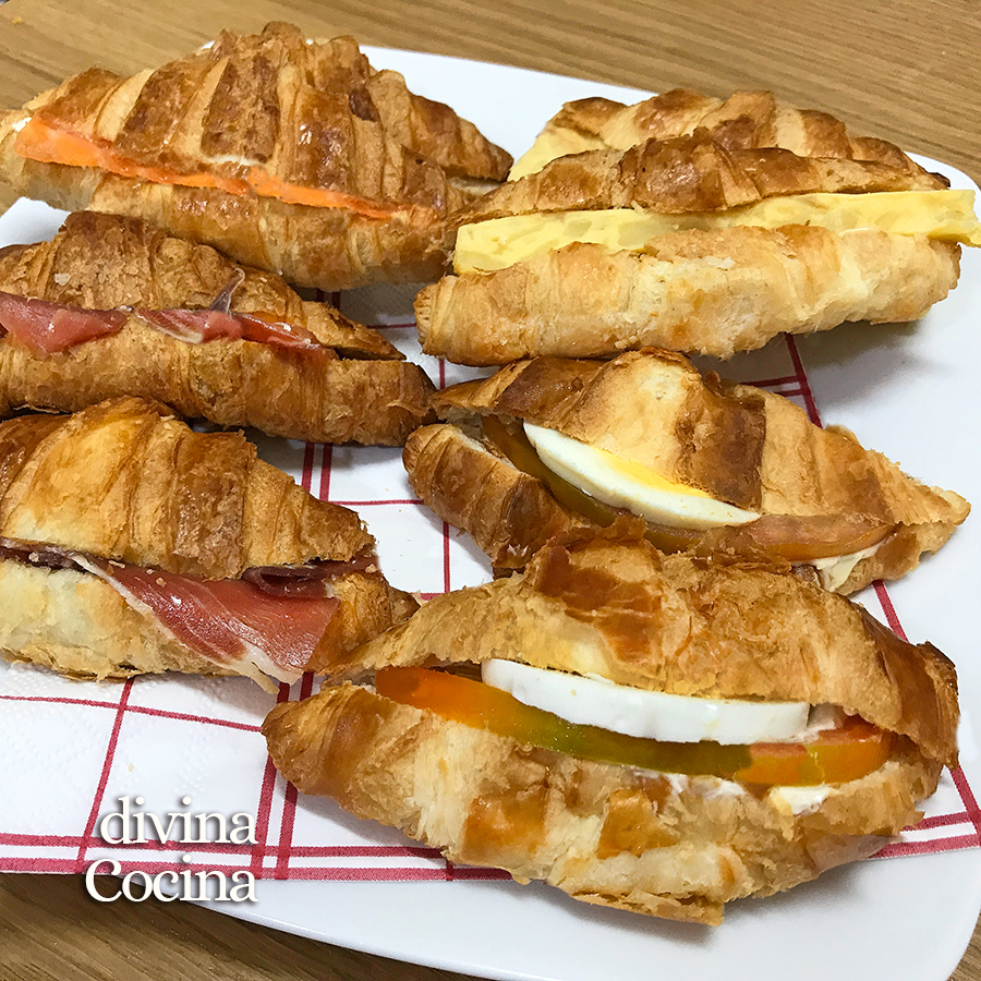croissants rellenos salados