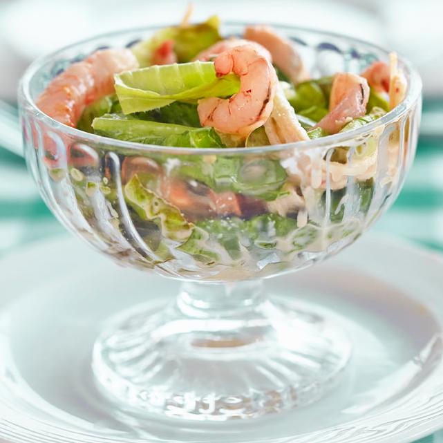 receta de ensalada con aguacate y gambas