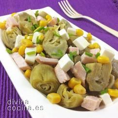 ensalada-de-alcachofas-jamon-y-queso