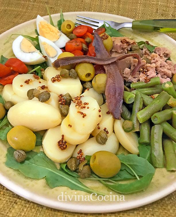 Receta de ensalada nizarda divina cocina - Ideas ensaladas originales ...