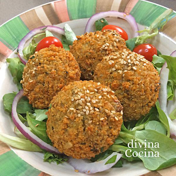 Falafel de garbanzos divina cocina - Preparacion de garbanzos cocidos ...