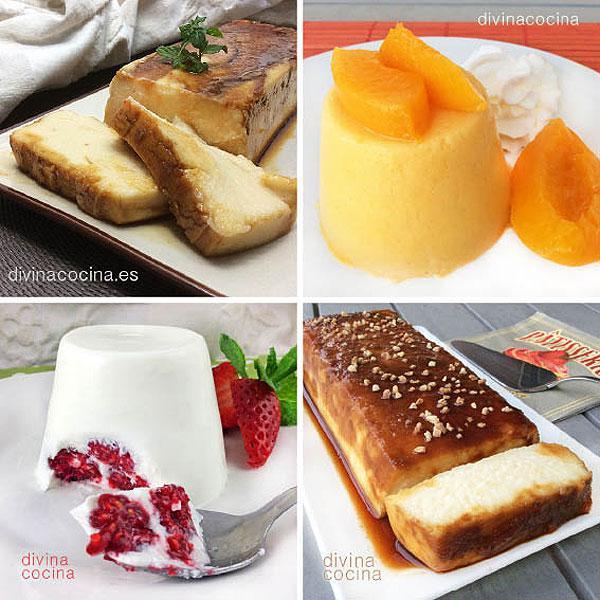 Receta de flan de cuajada y queso divina cocina - Flan de huevo sin horno ni bano maria ...