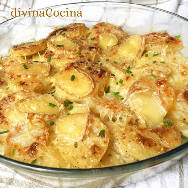 Grat n de patatas al queso divina cocina for Tapas francesas