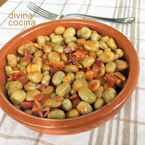 Habas guisadas divina cocina - Habas frescas con jamon ...