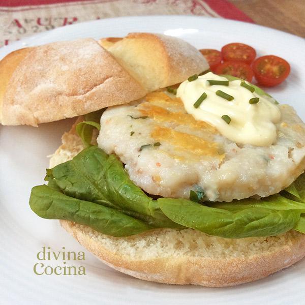 Hamburguesa de merluza y gambas divina cocina - Cocinar pescado congelado ...