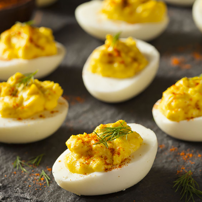 receta de huevos rellenos al curry