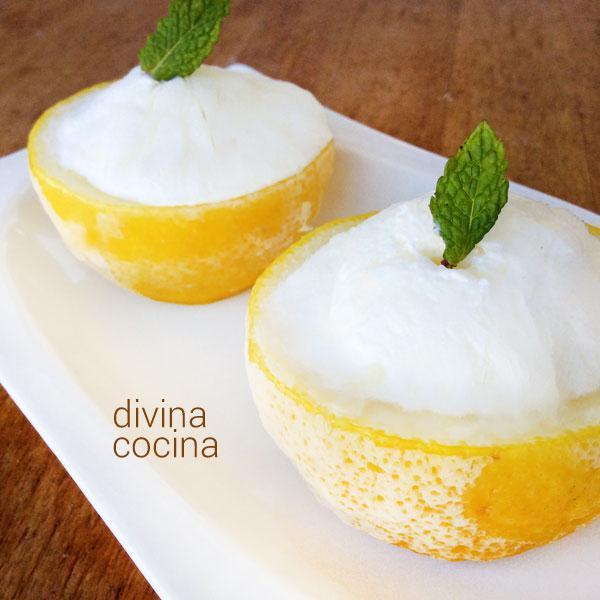 receta de limon helado