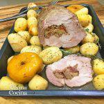 Lomo de cerdo relleno de setas y jamón