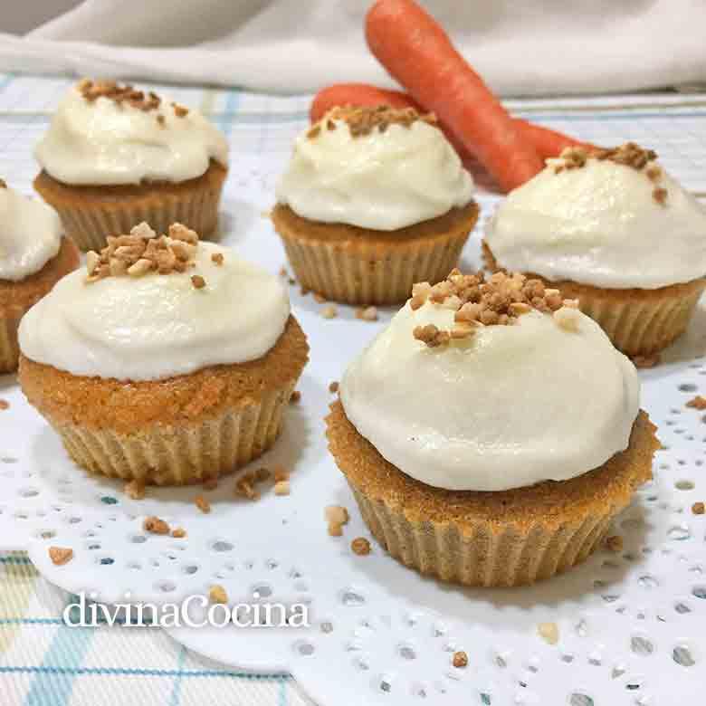 receta de magdalenas de zanahoria D