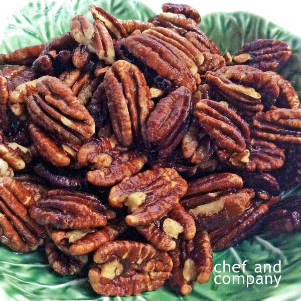 Nueces caramelizadas en Alitas caramelizadas