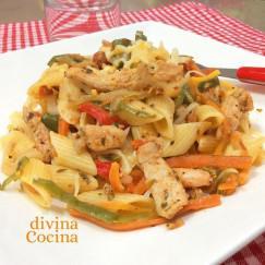 pasta-con-pollo-y-verduras