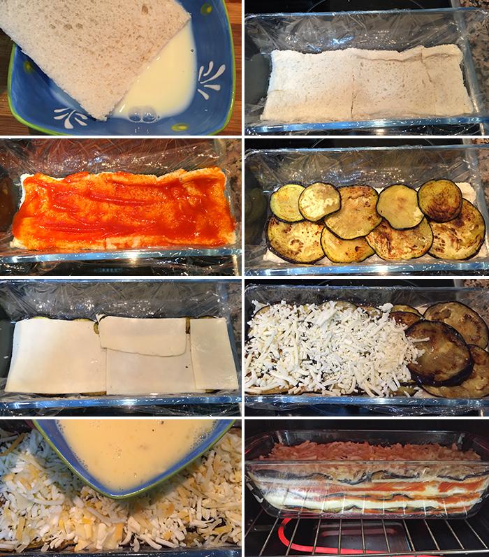 pastel de berenjenas con pan de molde paso a paso