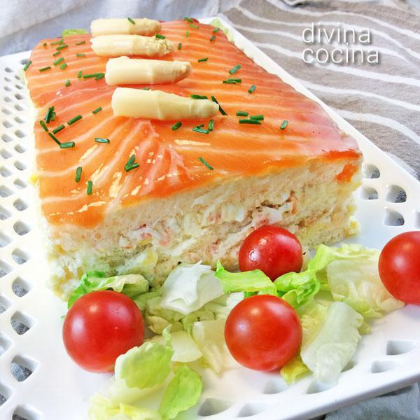 Pastel de salm n y esp rragos divina cocina for Comida rapida para invitados