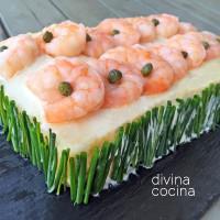 Pastel de marisco con pan de molde