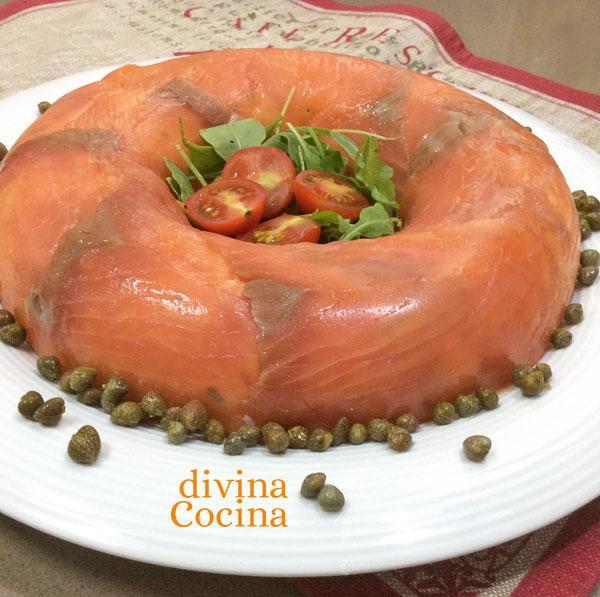 Pastel de salmón frío sin horno en Pastel de fresas con crema sin horno