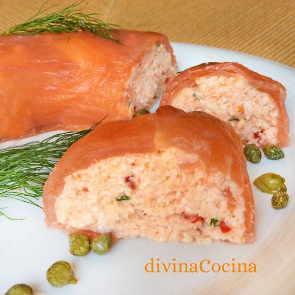 receta de pastel salmon para navidad