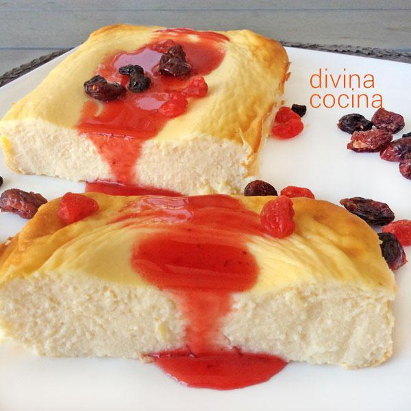 Pastel fácil de queso y yogur