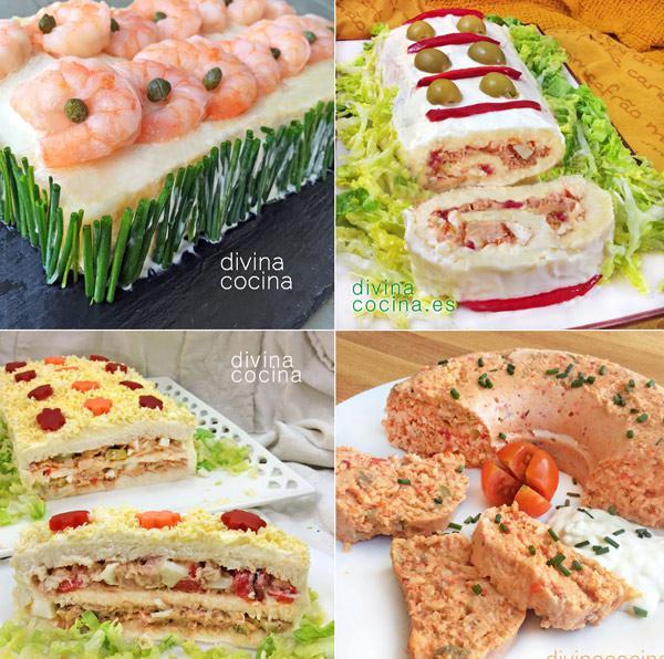 7 pasteles salados frios para invitados y fiestas divina for Ideas para comidas caseras