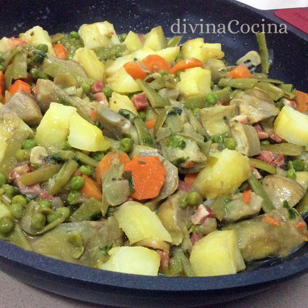 patatas-con-menestra-cazuela