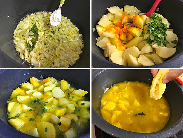 patatas amarillo paso a paso