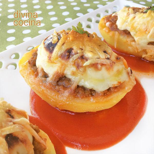 Patatas rellenas de carne al horno divina cocina - Carnes rellenas al horno ...