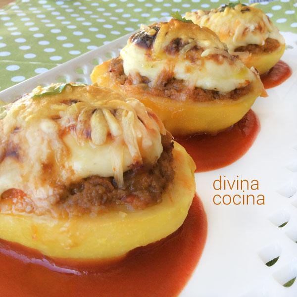Receta de patatas rellenas de carne al horno divina cocina - Carnes rellenas al horno ...