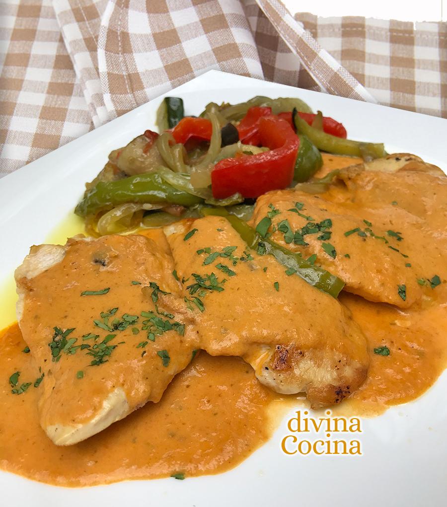 Como Cocinar Filetes De Pollo | Receta De Filetes De Pollo Con Salsa Gaucha Divina Cocina