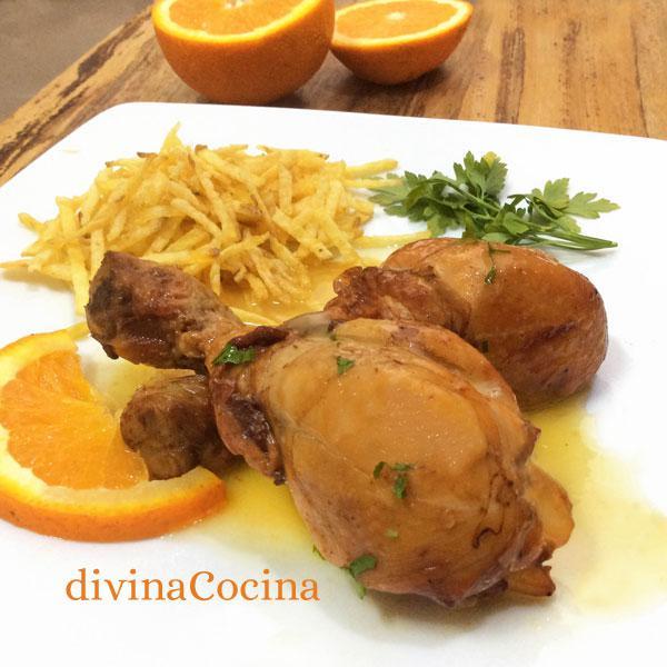 Pollo al horno a la naranja divina cocina for Cocinar un pollo entero