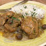 Pollo estilo árabe con especias