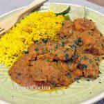 Pollo estilo hindú (pollo Tikka)